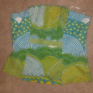 Aztec and diamond pattern tube top